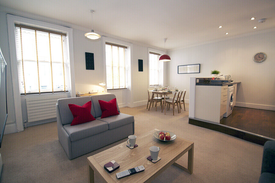 Gower Street Two Bedroom Apartment for Three